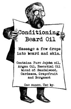Does your guy have dry itchy skin underneath his handsome beard? Craft him this earthy-woodsy-scented Conditioning Beard Oil. Made with fast absorbing Argan Oil and Jojoba Oil, not only will his skin be conditioned, his beard will be soft and manageable and NOT at all greasy or oily. A few drops of this magic manly elixir is all it takes and should be used before bed and after the shower.