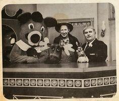 Captain Kangaroo, dancing bear, Mr. Green Jeans, Bunny Rabbit