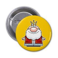 Cartoon King Pinback Buttons