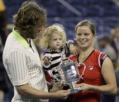 La ex tenista Kim Clijsters ha sido mamá de su segundo hijo