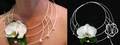 Floral necklace of white orchid