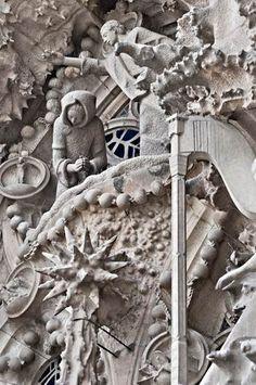 Nativity at the Sagrada Familia, Barcelona. Antonio Gaudi, architect.
