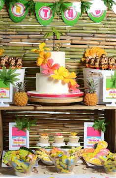 Hawaiian Luau themed birthday party