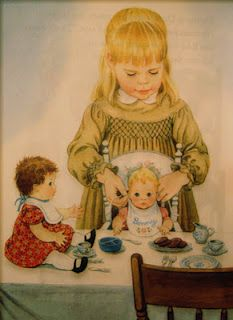 """Illustrations from """"Little Mommy""""...my favorite book when I was little.  Guess it should've been """"Little Stepmom""""...."""