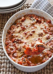 This is a side dish I crave all year!  Barefoot Contessa - Recipes - Scalloped Tomatoes