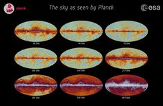 Space in Images - 2013 - 04 - Planck all-sky frequency maps