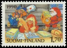 Joulupostimerkki 1990 1/2 - Tontut