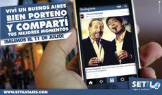¡Buenos Aires Bien Porteño! Uno de los viajes de Setil Viajes y Turismo. Éste es un post para facebook en donde promocionan su viaje por la ciudad de Buenos Aires.
