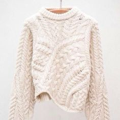 Versus Ecru Pullover by Isabel Marant Looks Style, Looks Cool, Style Me, Backstage Mode, Trends 2016, Moda Crochet, Look Fashion, Womens Fashion, Fall Fashion