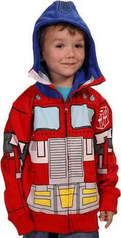 @Shannon Mitchell  Optimus Prime Hoodie ... for your future kid. or halloween.