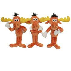 "Multipet Bullwinkle Plush Dog Toy 12"" 
