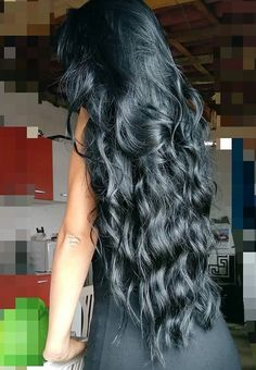 Ideas For Hair Styles Black Hair Long Beauty Long Black Hair, Dark Hair, Brown Hair, Beautiful Long Hair, Gorgeous Hair, Curly Hair Styles, Natural Hair Styles, Super Long Hair, Love Hair
