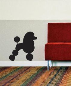 Poodle Silhouette Decal Sticker Wall Vinyl animal by BoopDecals