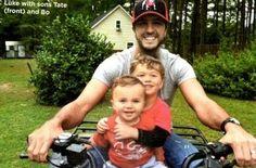 "Sexy MOFO Luke Bryan with his adorable sons Thomas Boyer Bryan ""Bo"" and Tatum Christopher Bryan ""Tate"""