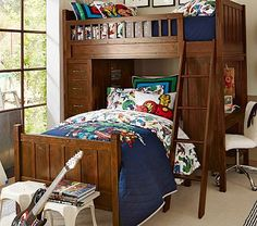 Camp Bunk System and Twin Bed Set for the boys' room