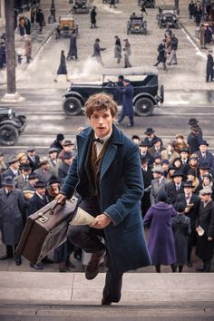 Newt Scamander in 1920s New York. He was a famous Magizoologist and author of Fantastic Beasts and Where to Find Them.
