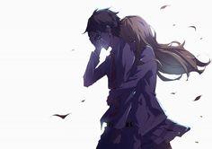 Anime : Shigatsu wa kimi no uso (sad) | Characters : Kousei Arima, Kaori Miyazono