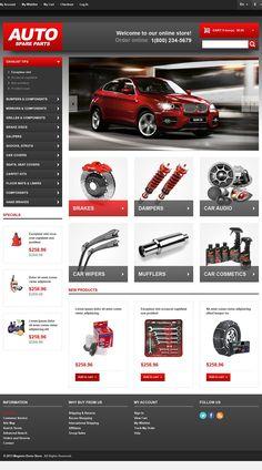 Spares Store #CSS3 #HTML5 #JQuery & #Responsive #Magento Theme #43713