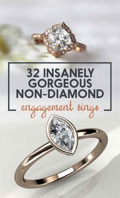 32 Insanely Sparkly Engagement Rings That Don't Use A Single Diamond