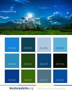 Sky Nature Ecosystem Color Palette #colors #inspiration #graphics #design #inspiration #beautiful #colorpalette #palettes #idea #color #colorful #colorscheme #colorinspiration #colorcombinations #colorcombos #colorpalette_org Color Combinations, Color Schemes, Green Logo, Paint Swatches, Logo Color, Bedroom Colors, Color Pallets, Color Theory, Color Inspiration