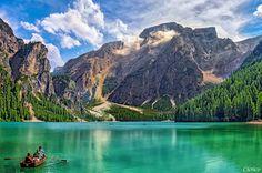 Озеро Брайес в  Альпах Италии - красота в глазах смотрящего