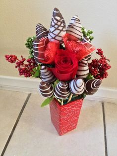 Chocolate covered strawberries arrangement