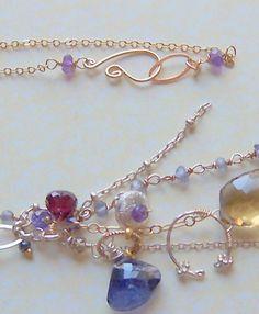 Cluster Necklace www.halliescomet.com Cluster Necklace, Artisan, Gemstones, Bracelets, Beauty, Beautiful, Jewelry, Design, Fashion