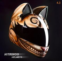 Adorable Motorcycle Helmets-Cat Ears Design | Cool Things