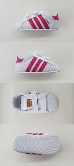 Infant Shoes: Adidas Originals Superstar White Pink Gold Newborn Baby Sneakers S79917 BUY IT NOW ONLY: $36.0