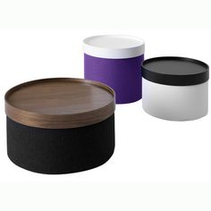 pouf with fitted tray, coffee table or ottoman, Urban Mode, Toronto