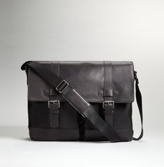 Nylon and Leather Messenger - Kenneth Cole