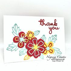 Make Tutorial, Paper Pumpkin, Creative Cards, Flower Cards, Stampin Up Cards, Color Combos, Perennials, Thank You Cards, Paper Crafts