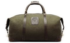 Ghurka Cavalier Travel Bag - Army Canvas $695 Very high-end brand and extraordinary quality.  Spendy!