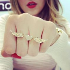 heart and wings - love the multiple-finger rings