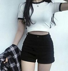 Korean fashion styles 819232988450803742 - Latest Korean Women's clothes Hacks 2944442262 – – Source by Casual Outfits For Teens, Komplette Outfits, Grunge Outfits, Short Outfits, Stylish Outfits, Casual Dresses, Fashion Outfits, Teenager Fashion Trends, Korean Fashion Trends
