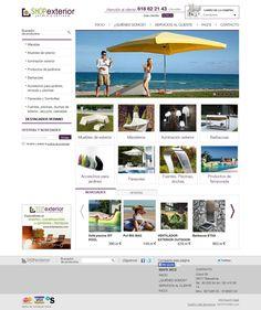 Shopexterior.com es una #tiendaonline especializada en productos para #jardines, #terrazas y otros #exteriores.  La #webshop es rápida e intuitiva, con un #diseño cuidado, donde destacan las fotografías.