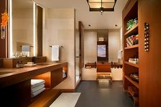 This Is How The 1% Travels — & It's Insane #refinery29  http://www.refinery29.com/most-beautiful-luxury-hotels#slide-5  Four Seasons Lanai at Manele Bay, Lanai, Hawaii (continued)The teak-paneled bathrooms contain wooden Japanese soaking tubs and TVs disguised as mirrors. But if you didn't come to Hawaii to watch TV, you can always hang poolside or go for a swim in the bay. And you can have your sung...