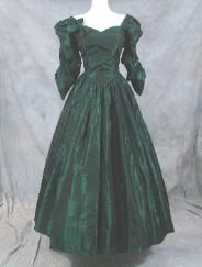 Civil War ball gown...I will of course add a gathered over skirt...and the bodice will show NO cleavage...