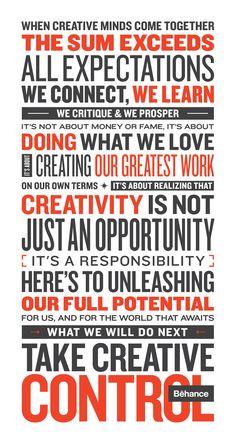 Behance Manifesto