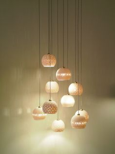 Ceramic lights.