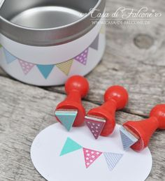 Mini Stempel Set Wimpel mini stamp