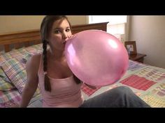 Really Big Balloons   girl balloon blow to pop add to ej playlist amazing girl balloon ...