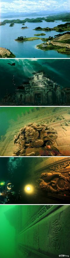 a city that's 1339 years old, situated in east China's Zhejiang Province, has been submerged under Qiandao Lake since 1959, after the construction of the Xin'an River hydropower station