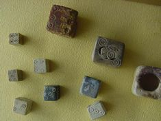 These are roman dice. This was the most common game in Ancient Rome. Carr, Karen. Roman Dice. 2011. Kidipede. Web. 27 Sept. 2011.