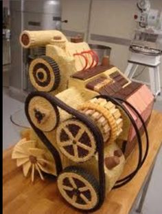 Skoda caused a huge stir with its car made out of cake. The advert features an army of bakers creating a Fabia out of an array of tasty baked treats… Beautiful Cakes, Amazing Cakes, Motor Cake, Drinking Memes, Skoda Fabia, Cakes For Men, Chocolate Art, Novelty Cakes, Food Humor