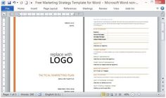 Free Marketing Strategy Template for Word #go #to #market #strategy #template http://hong-kong.nef2.com/free-marketing-strategy-template-for-word-go-to-market-strategy-template/  # Free Marketing Strategy Template For Word A Marketing Plan is important for a business because it is a roadmap for the direction, objectives and activities of the key marketing elements of a business. The marketing plan narrows down the perspectives outlined in a business plan and provides strategies for making a…