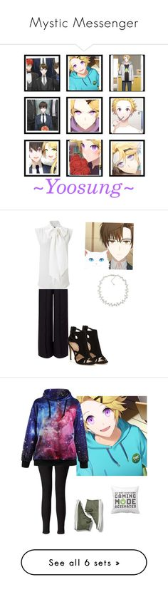 """""""Mystic Messenger"""" by shadow-ninja-jr ❤ liked on Polyvore featuring art, Miss Selfridge, French Connection, Carolee, Keds, Diane Von Furstenberg, Manon Baptiste, Sophie Buhai, Lavinia Cadar and New Look"""