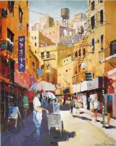 Kunstsamlingen | Artist: holger-poulsen | Title: Little Italy, New York | Height: 100cm,  Width: 80cm | Find it at kunstsamlingen.dk