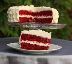 Red Velvet - Torta de terciopelo rojo ~ Pasteles de colores