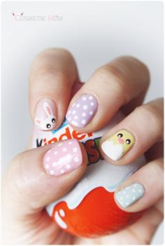 15 Easy Manicure Ideas for Easter Ashley Brooke Nicholas Easter Nail Designs, Easter Nail Art, Christmas Manicure, Holiday Nails, Simple Nail Designs, Nail Art Designs, Spring Nails, Summer Nails, Polka Dot Nails